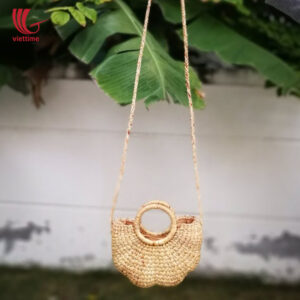 Natural Woven Water Hyacinth Shoulder Purse