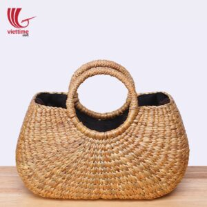 Beautiful Water Hyacinth HandBag With Inside Cloth