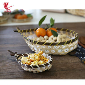 Fish Shape Weaving Bamboo Candy Tray