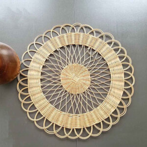 White Rectangle Rattan Placemat Wholesale