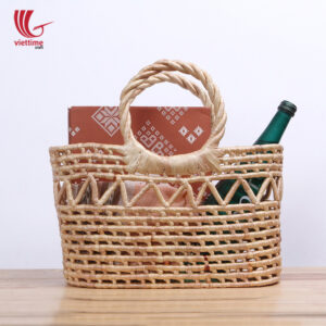 Water Hyacinth Wicker Tote Bag For Shopping