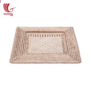 White Woven Rattan Placemat For Meal