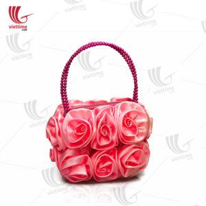 Handicraft Flower Brocade Women HandBag