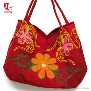 Handicraft Brocade Tote Women HandBag