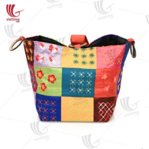 Colorful Brocade Tote Women HandBag