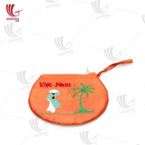 Round Design Brocade Women Clutch Bag
