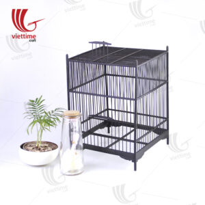 Large Black Bamboo Vietnamese Bird Cage