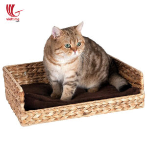 Water Hyacinth Wicker Pet Basket Bed