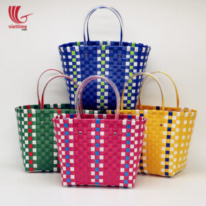 Fashional Plastic Weaved Handbag For Ladies