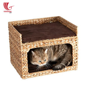 Best Selling Water Hyacinth 2 Floors Cat House