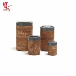 Cinnamon Bark Storage Box With Painted Lid