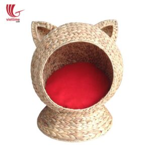 Woven Water Hyacinth Cat Cave Sleeping House