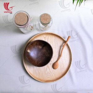 Round Wooden Tray For Serving Food