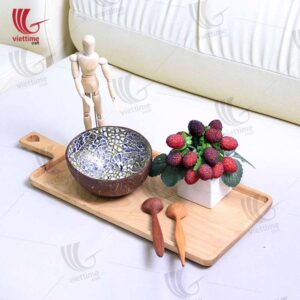 Wooden Cutting Serving Board With Handle