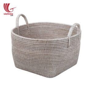 Large Natural Handwoven Rattan Laundry Basket