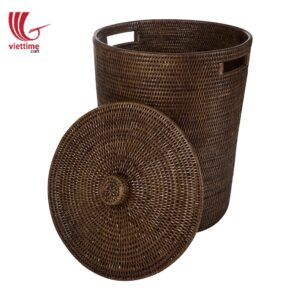 Rattan Laundry Hamper Round With Lid
