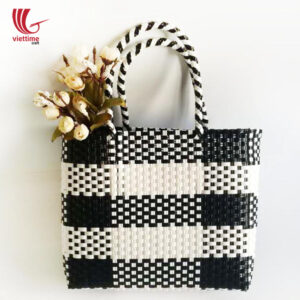 Portable Big Plastic Shopping Basket Bag