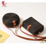 Summer Trend Black Rattan Shoulder Bags