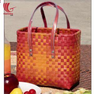 Unique Plastic Shopping Basket Bag