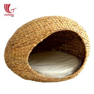 Comfortable Water Hyacinth Woven Cat House