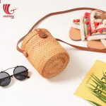 Mini Classic Box Shaped Rattan Bags