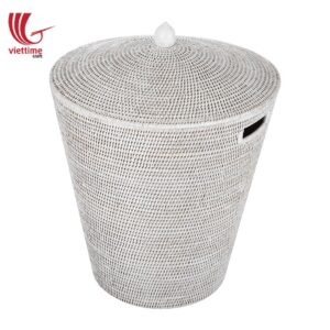 Handwoven Strong Rattan Laundry Basket