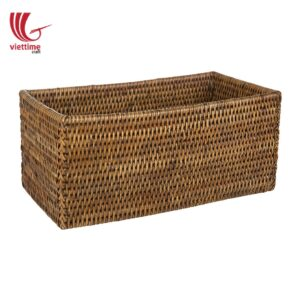Home Improvement Brown Rattan Shelf Basket