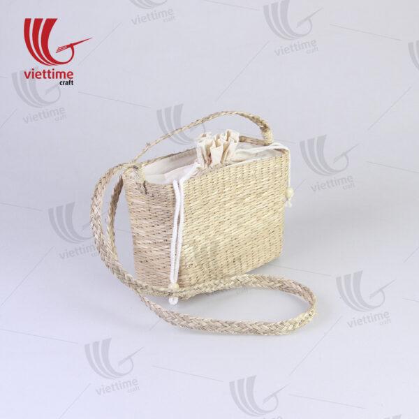 Seagrass Shoulder Bag With Inside Cloth