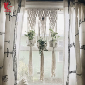 Macrame Plant Hangers For Decorating Window