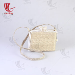 Seagrass Shoulder Bag With Inside Cloth