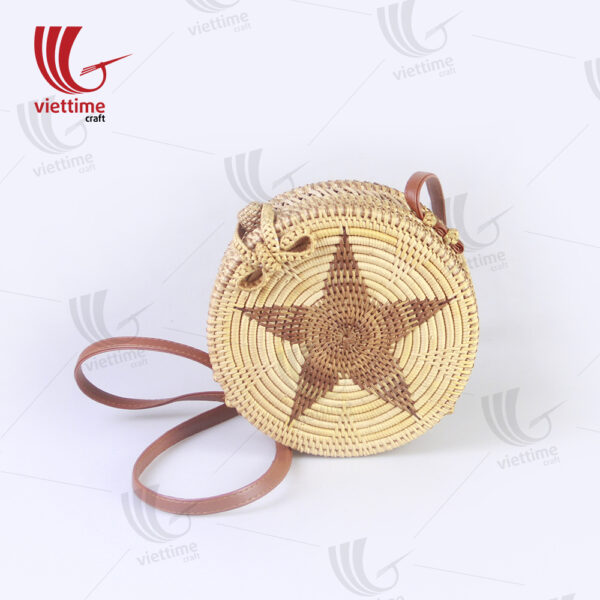 Women's Fashion Round Rattan Sling Bag