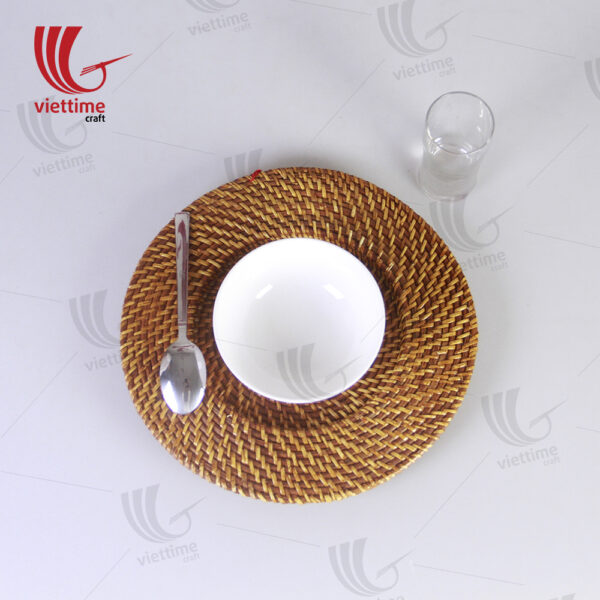 Cheap Light Gold Rattan Charger Plate