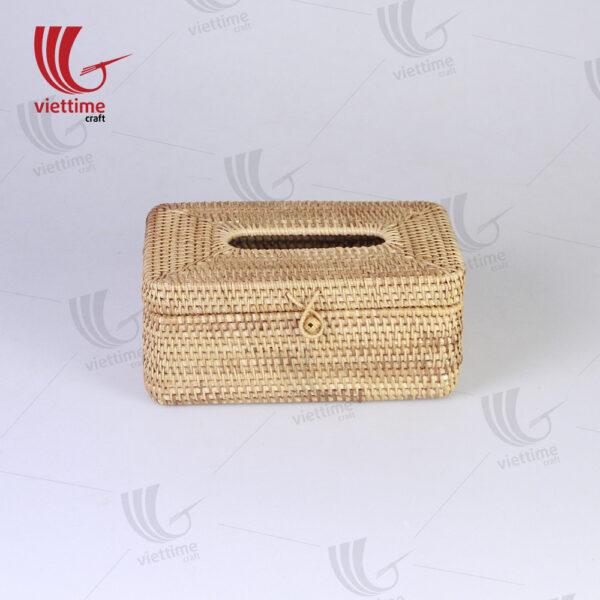 Honey Brown Rattan Tissue Napkin Box