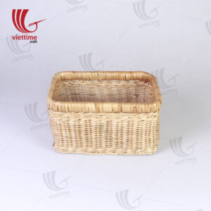Small Honey Rattan Deep Wicker Basket