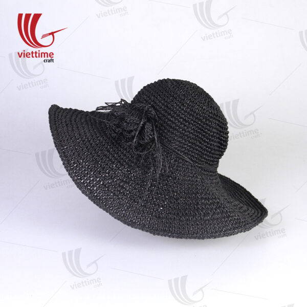 Black Beautiful Woven Recycled Paper Hats