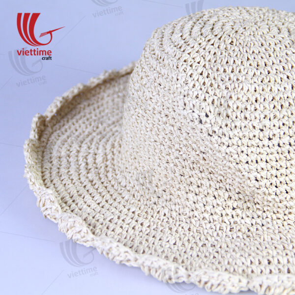 Light Brown Woven Recycled Paper Hats