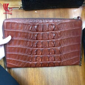 Authentic Embossed Crocodile Leather Wallet