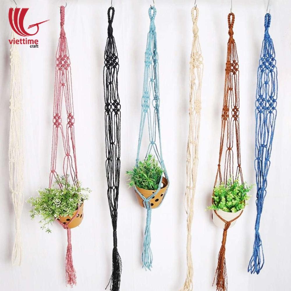 Modern Double Macrame Plant Hangers For Decoration Viettime Craft
