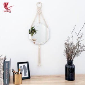 Handmade Macrame Mirror Wall Hanging