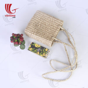 Handwoven Seagrass Cross Body Straw Bag