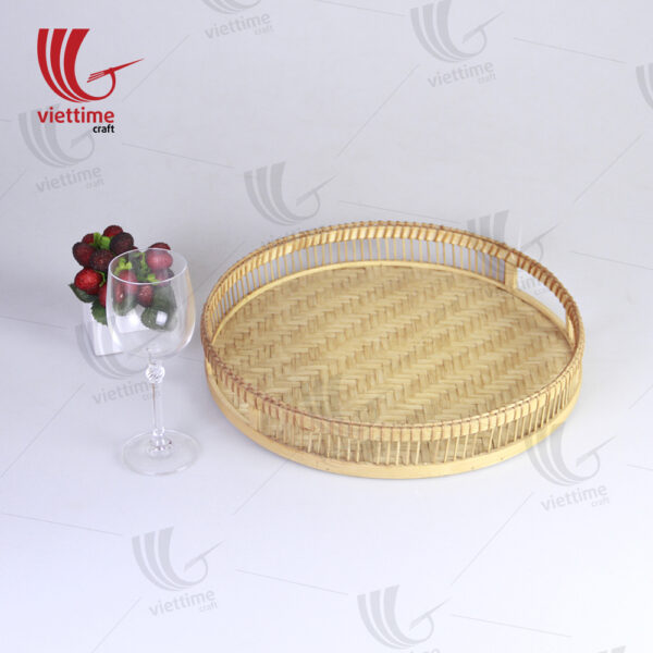 Latest Arrived Round Shaped Bamboo Tray