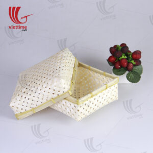 Natural Weaving Small Handcraft Bamboo Boxes