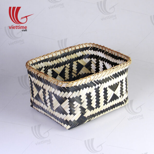 HandWoven Bamboo Storage Basket Set Of 2