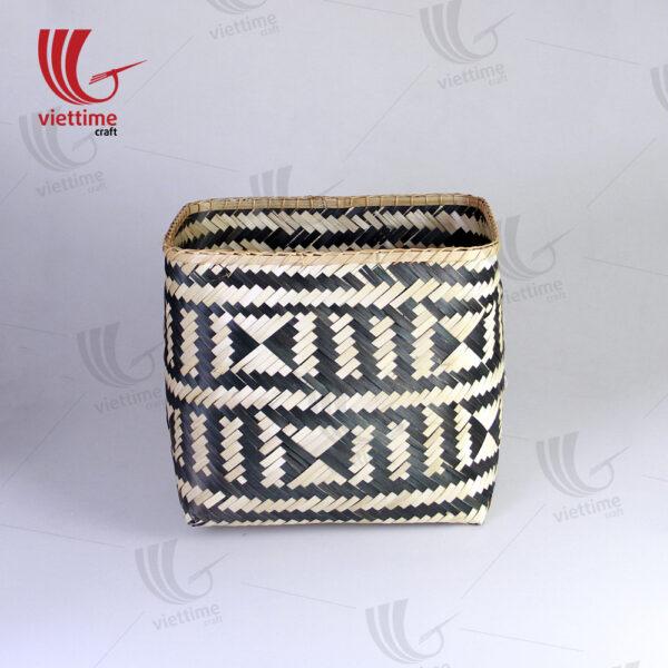 HighQuality Woven Bamboo Storage Basket Set Of 2