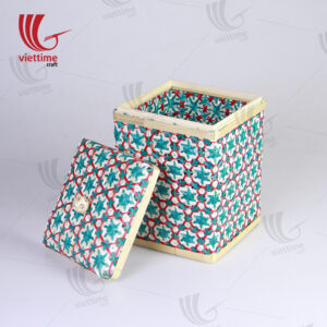 Coralpearl Weaving Bamboo Box With Lid
