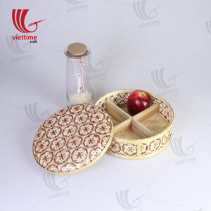 Red Coralpearl Woven Bamboo Candy Box