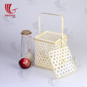 Bamboo Storage Box Basket With Handle