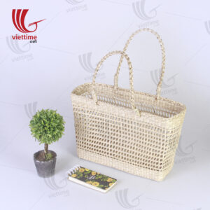 Natural Rectangle Seagrass Net Straw Bag