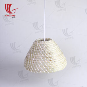 Woven Seagrass Lampshades With Plastic String