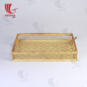 Latest Arrived Rectangle Shaped Bamboo Tray